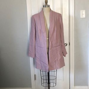 Soft Surroundings Dusty Pink Blazer